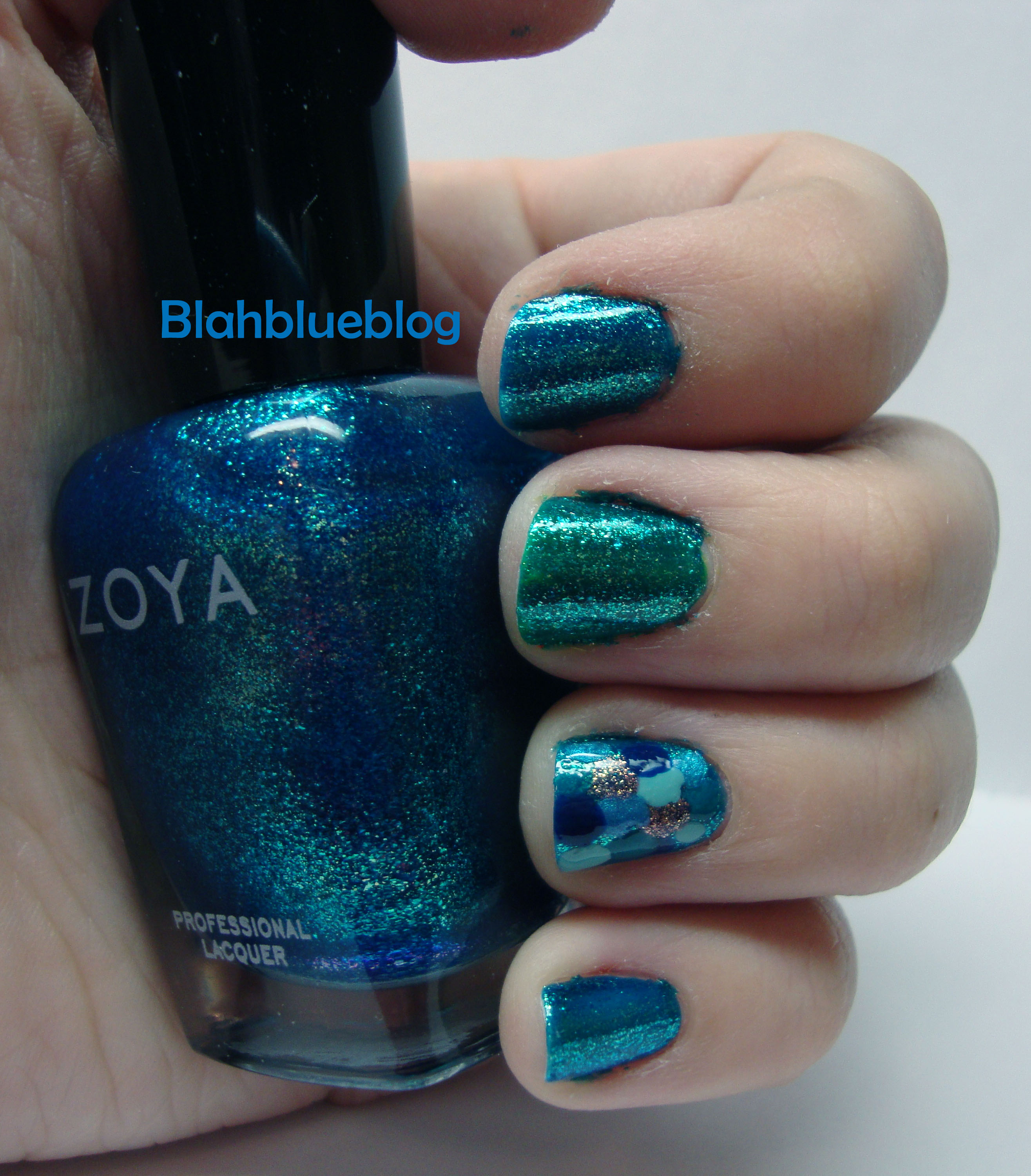 Fish scale nail art blahblueblog mermaid nails prinsesfo Choice Image